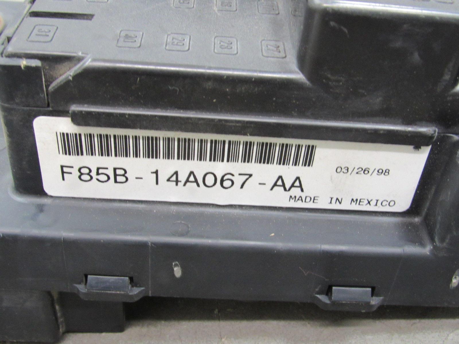 98 Ford F 150 250 44 Bcm Gem Multifunction Fuse Relay Box F85b Car And 14b205 Na Bn