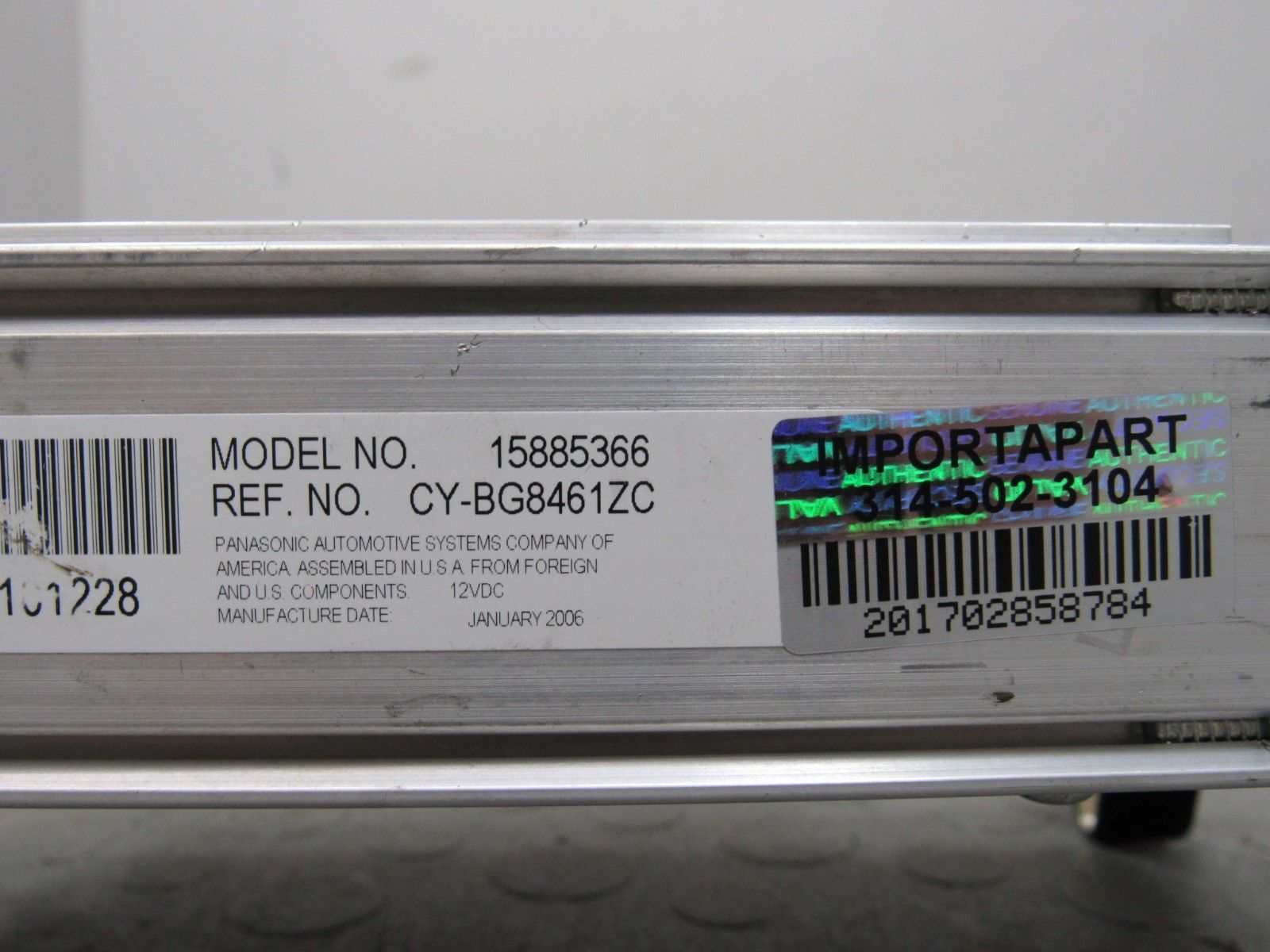 06 07 Chevy Monte Carlo Panasonic Amp Amplifier Audio Stereo Booster 15885366 Bd