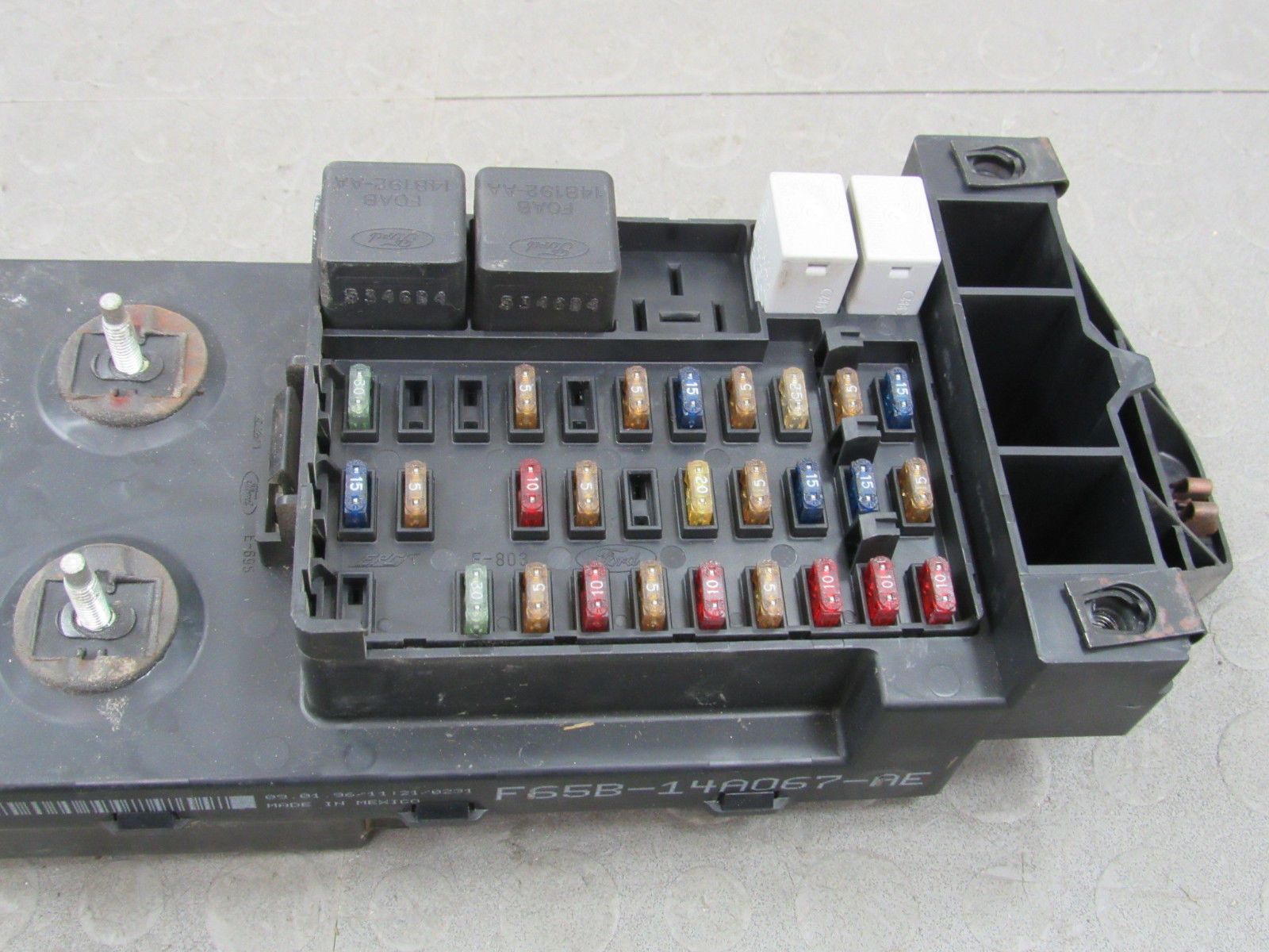 Gem Car Fuse Box : Ford f bcm gem multifunction fuse relay