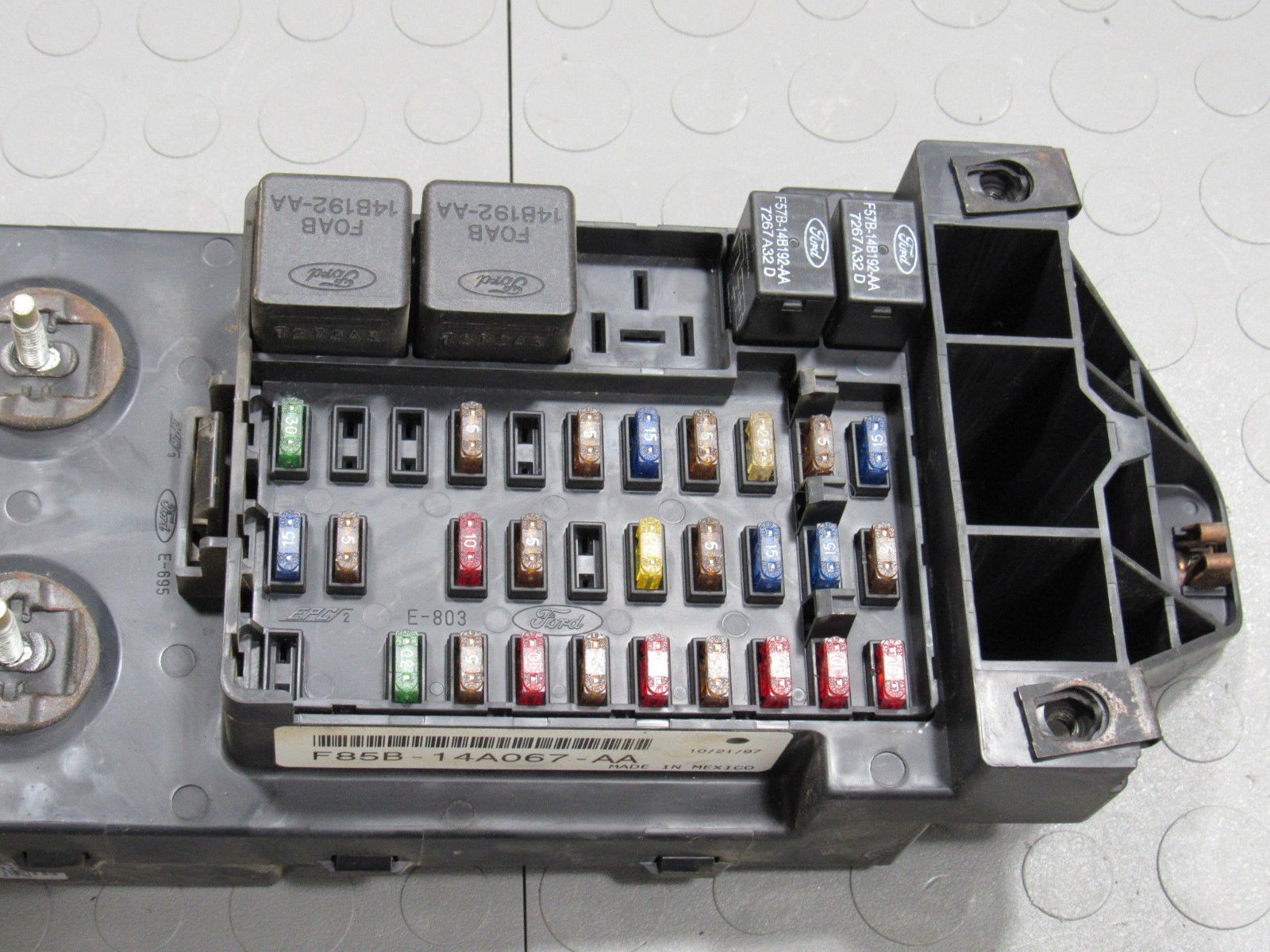 Gem Car Fuse Box : Ford f bcm gem multifunction fuse relay box b