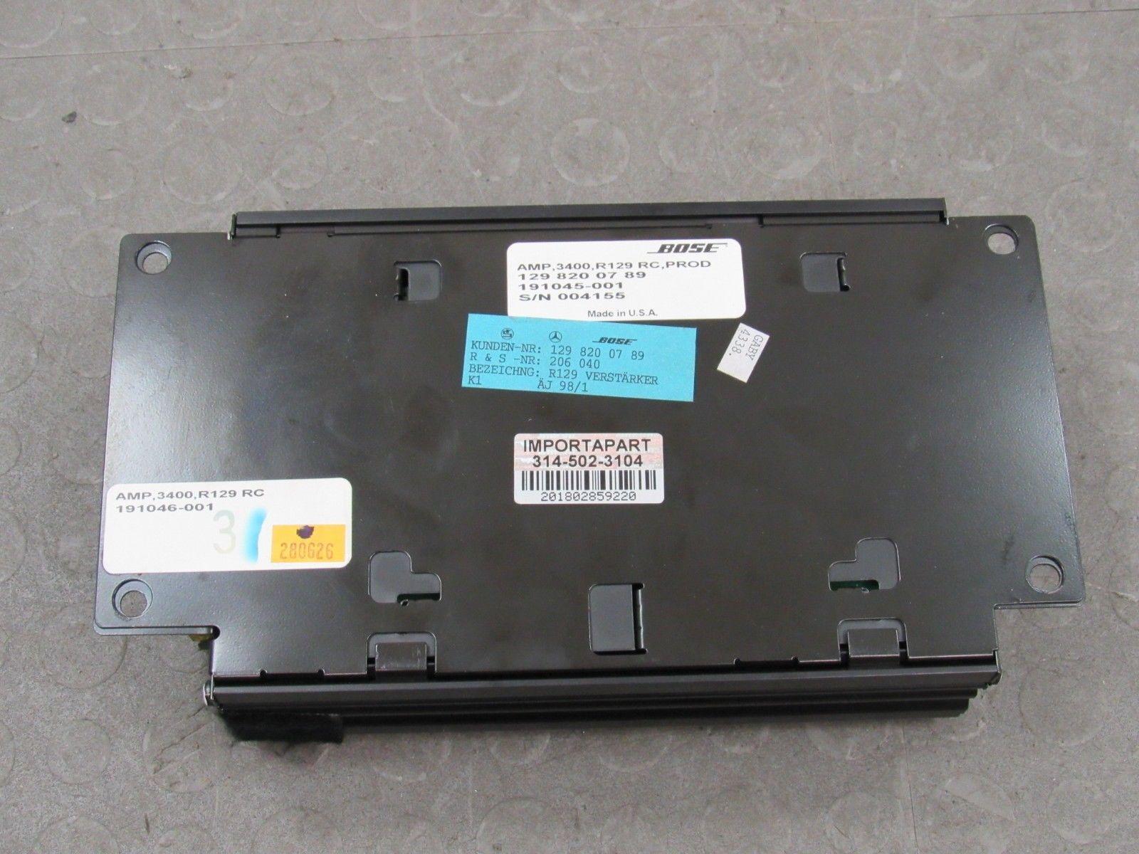 98-02 Mercedes SL500 SL600 R129 Bose Audio Radio Amplifier Amp 129 820 07  89 B
