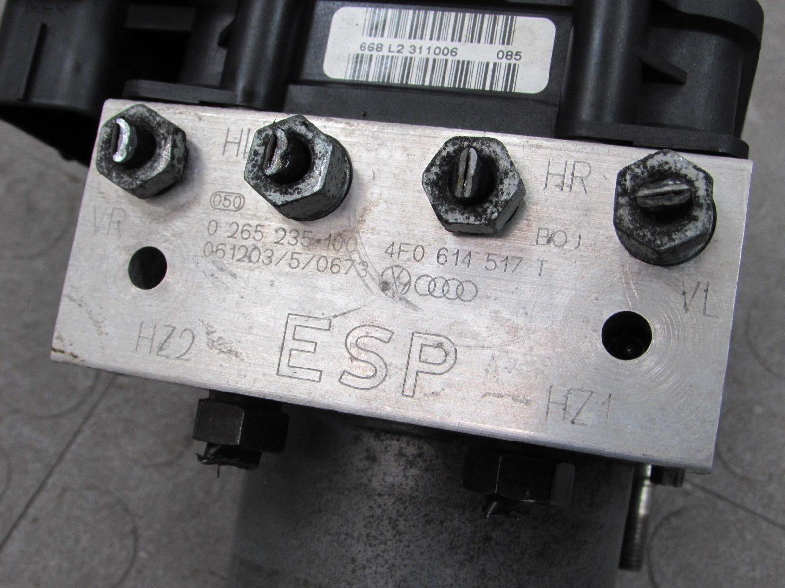 07-08 Audi A6 C6 FWD ABS Anti-Lock Brake Pump Module Assembly 4F0 910 517  AC C