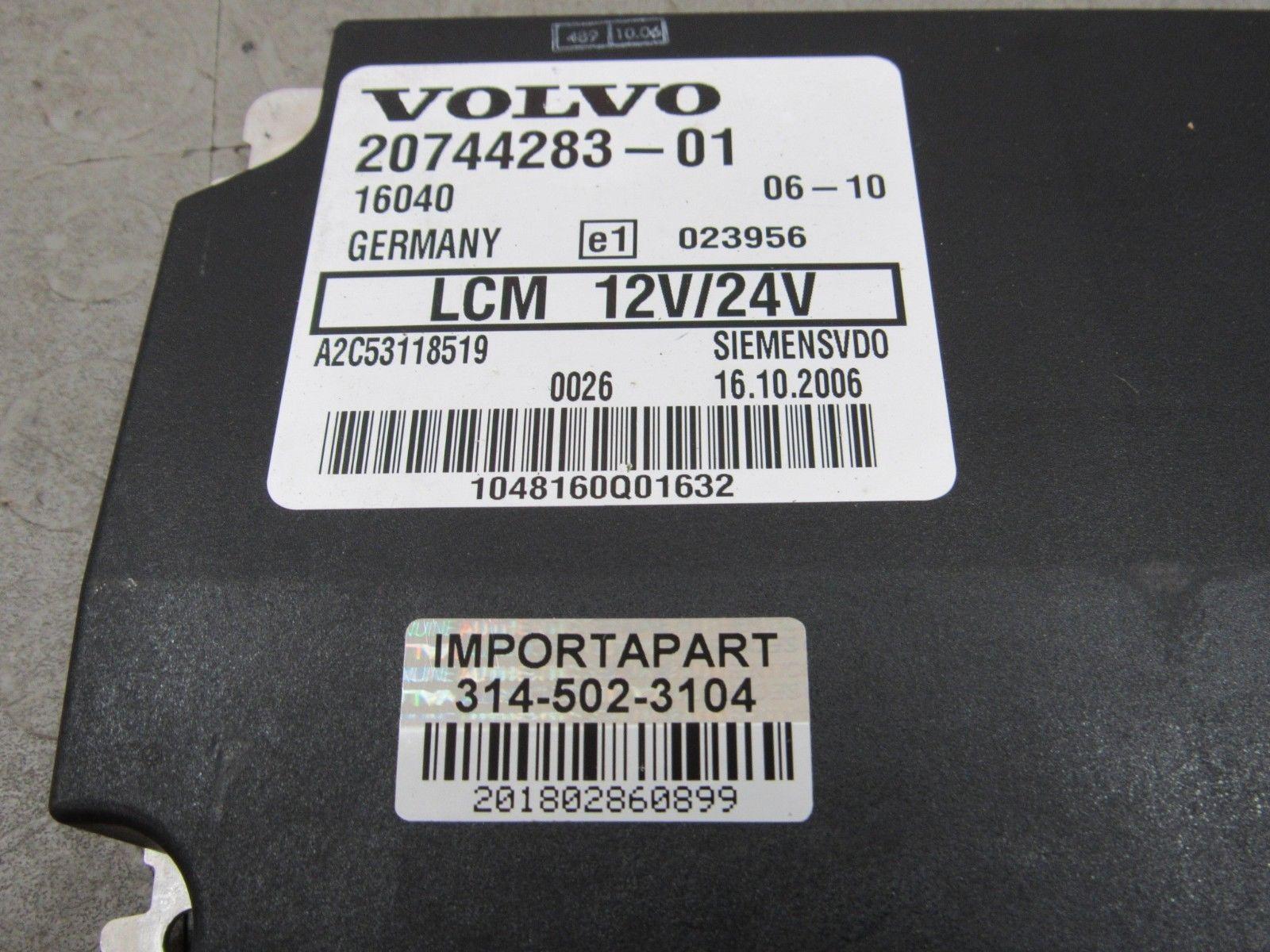08 Volvo VNL LCM Dash Lighting Light Control Module Unit 20744283 A