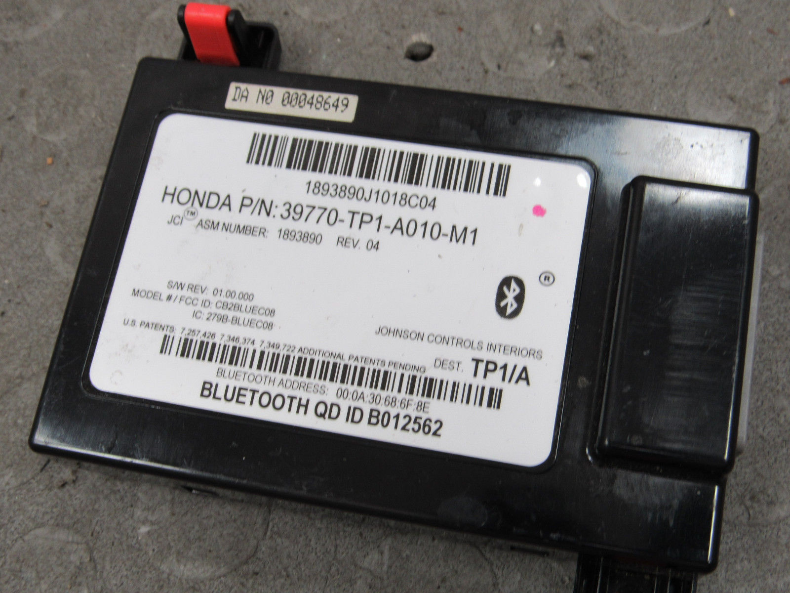 Acura TSX HFL Hands Free Link Bluetooth Control Module TP - Acura hfl module for sale