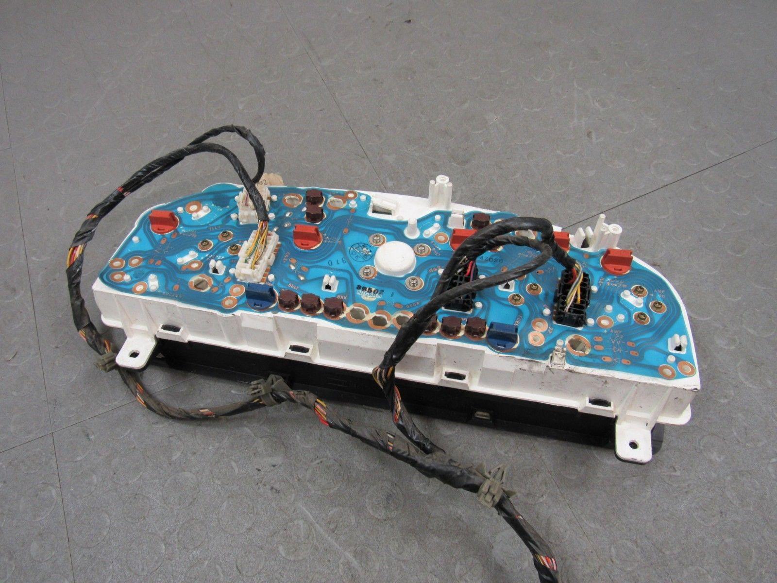 94 97 Nissan Pickup Truck Hard Body Instrument Gauge Cluster Tach Wiring Harness 220227