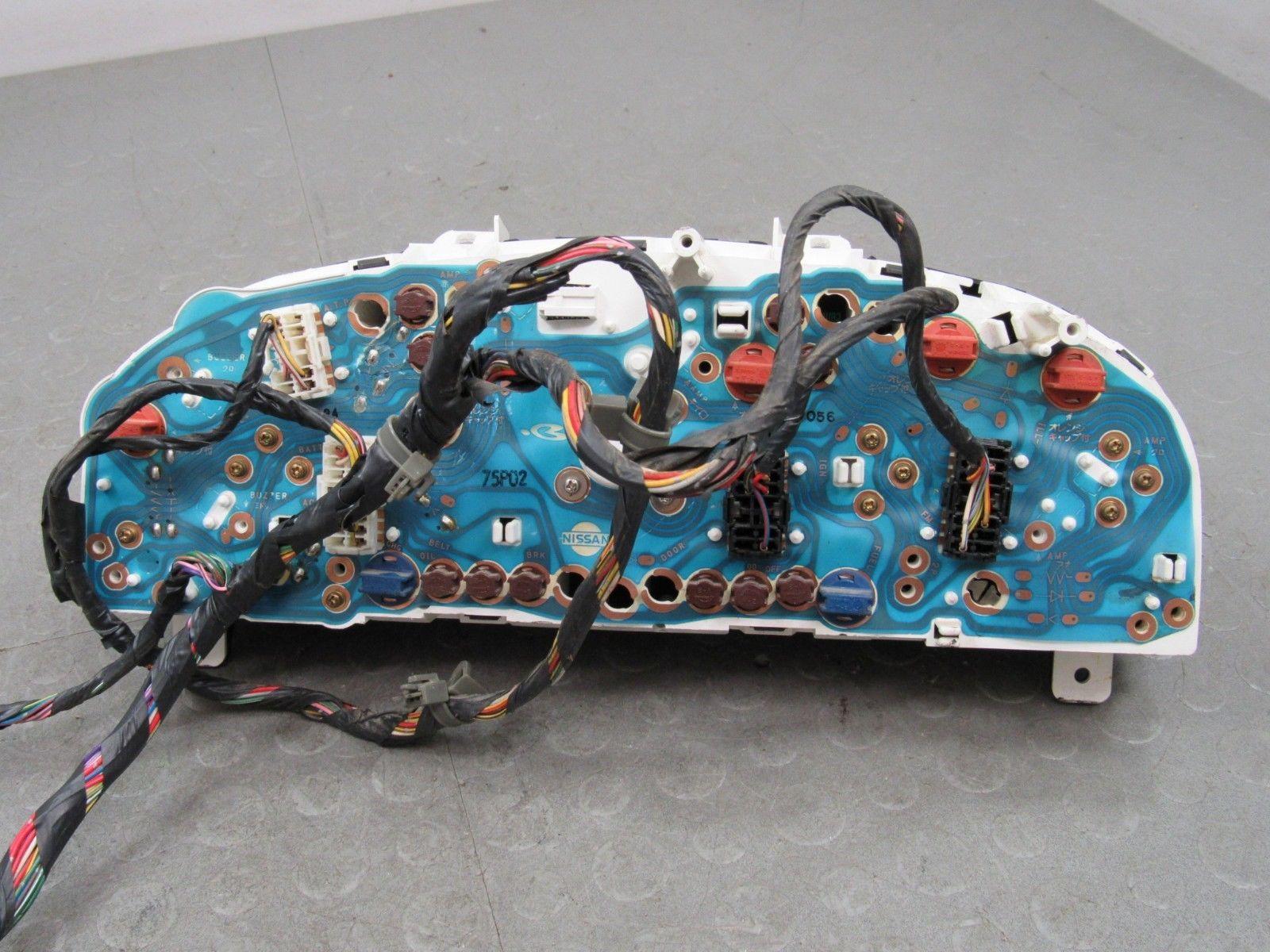 94 97 Nissan Pickup Truck Hard Body Instrument Gauge Cluster Tach Harness 249607