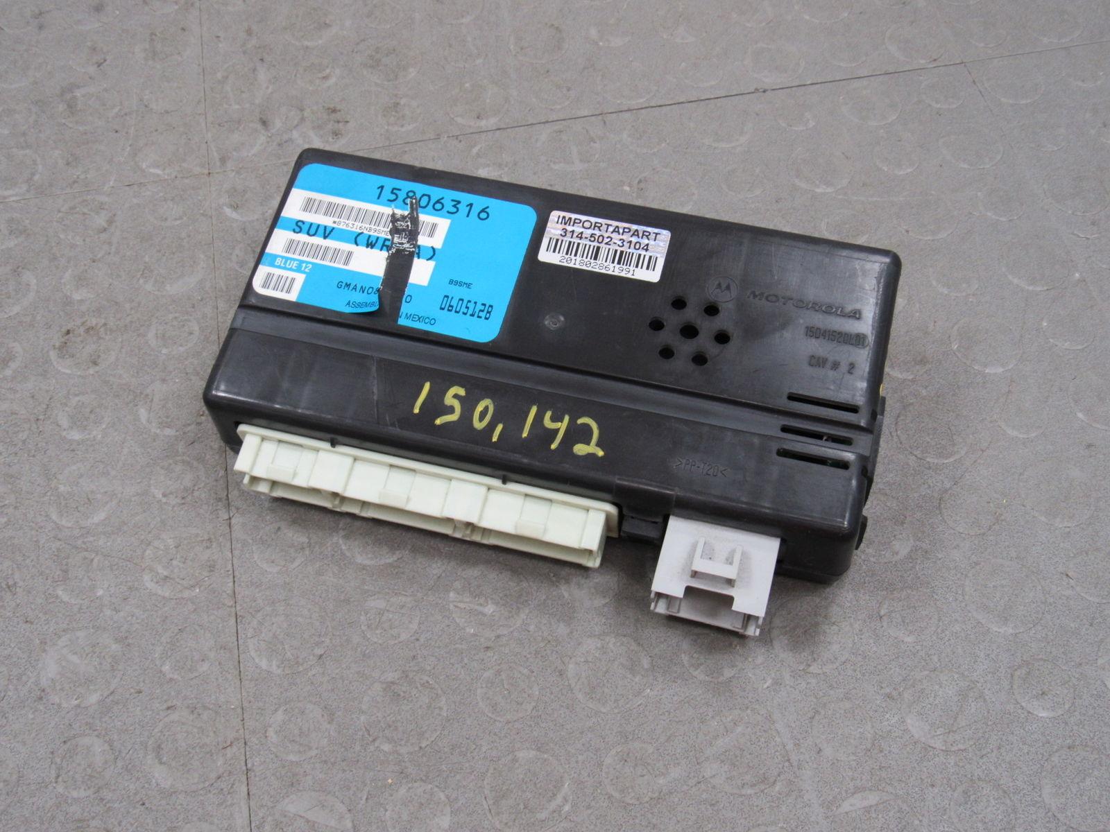 02 03 Saturn Vue Bcm Body Control Multifunction Module 150 142 Miles 15806316 U Importapart