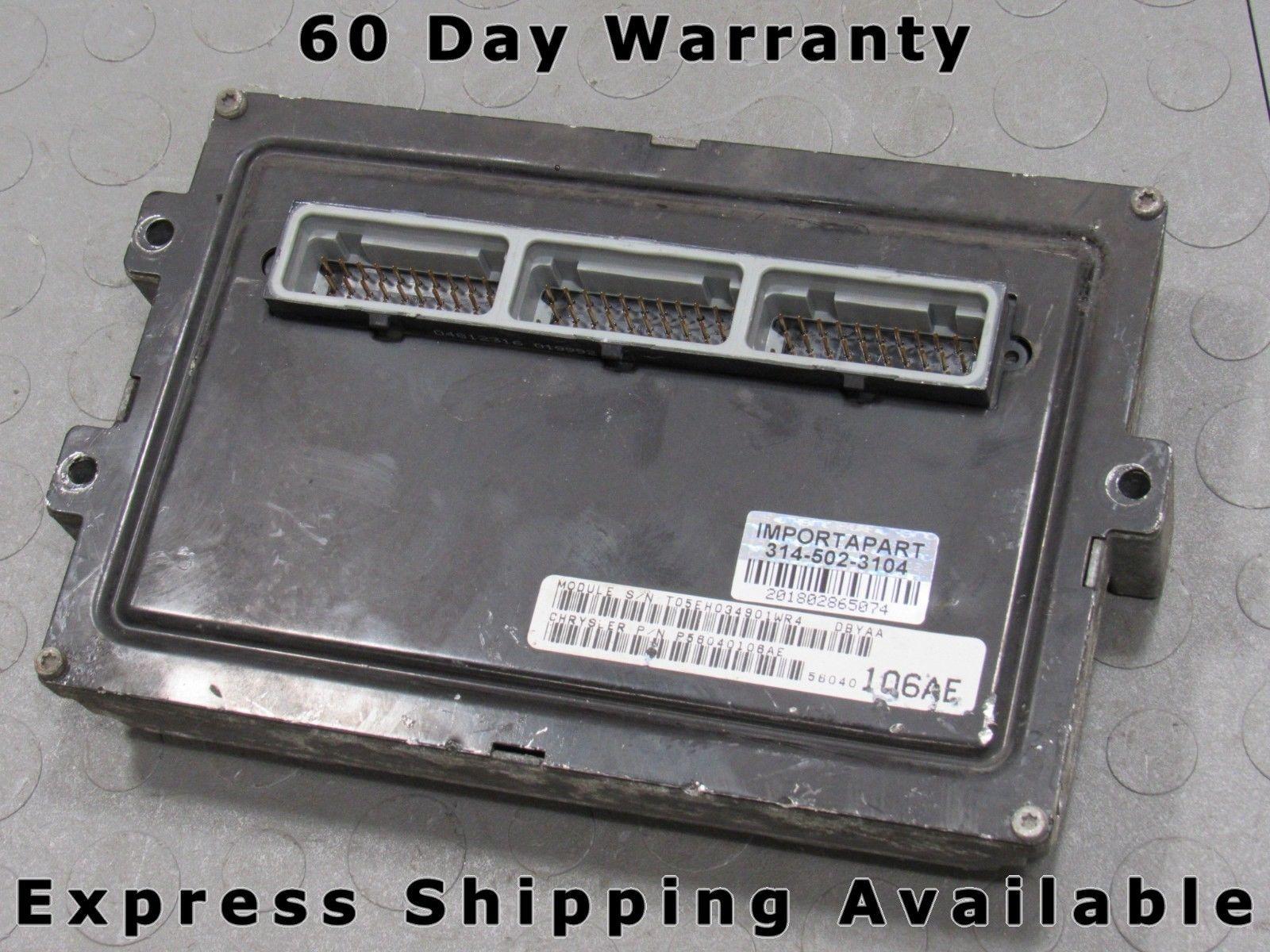 99 Dodge Durango 5 2 4 Pcm Ecm Ecu Engine Control Computer 56040106ae 106 J