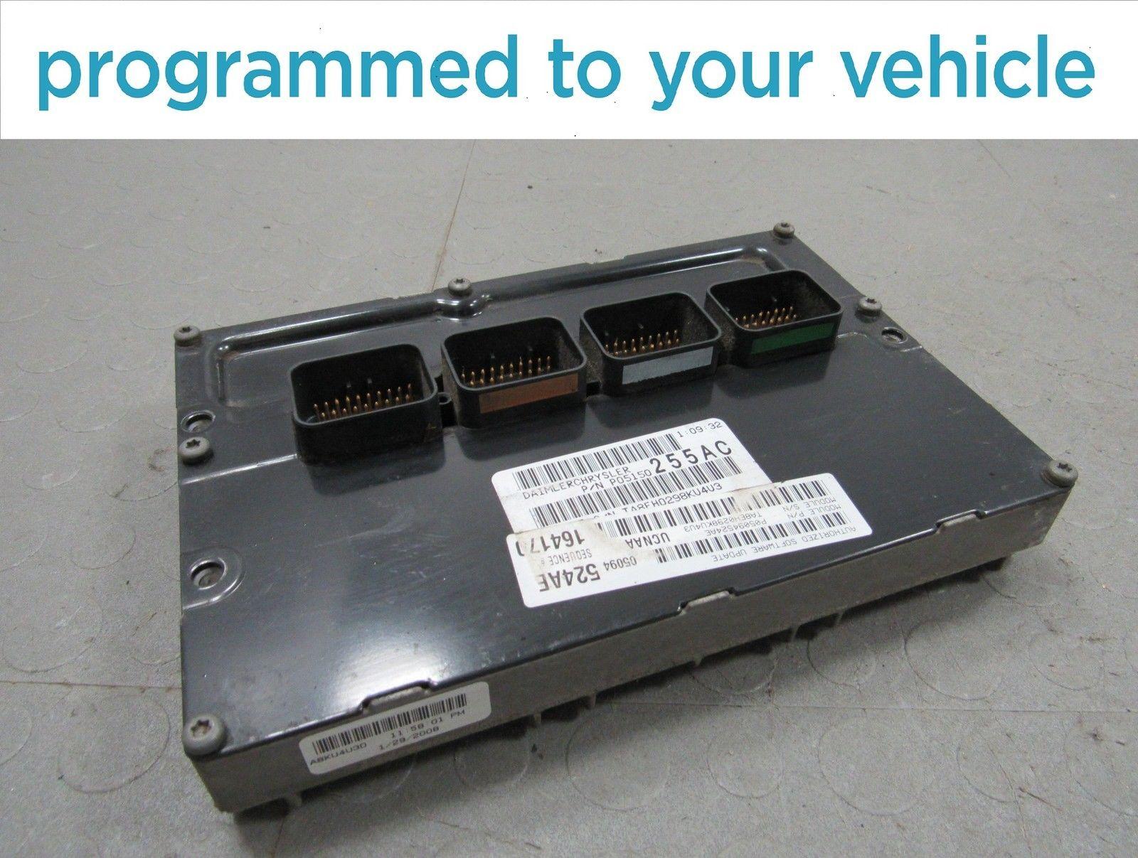 08 Dodge Ram 1500 4 7L Fed AT ECU ECM PCM Engine Computer 524 05094524AE  PROG A