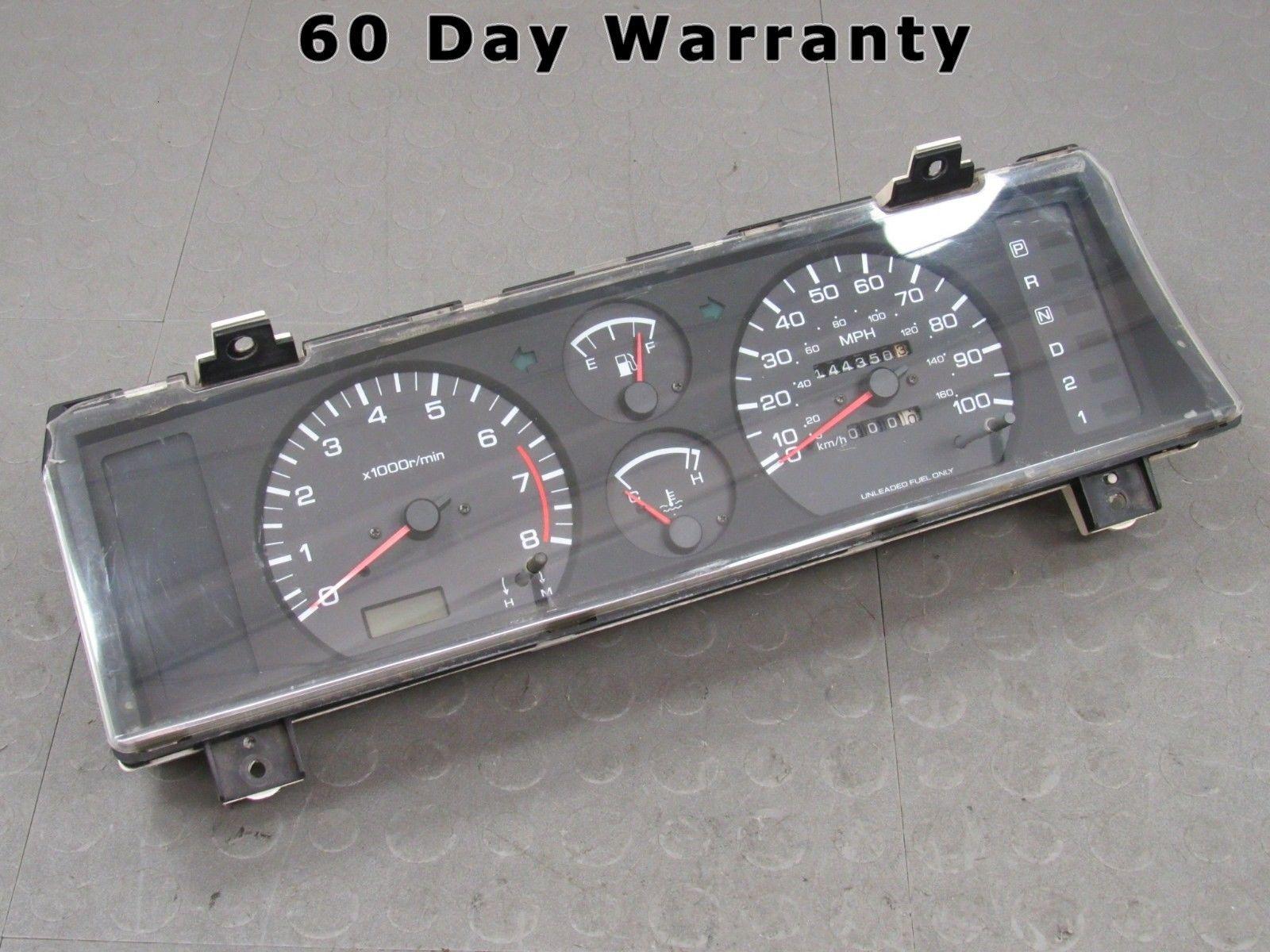 93 Nissan Pickup Hard Body D21 2 4L A/T Instrument Gauge Cluster Tach  144,350