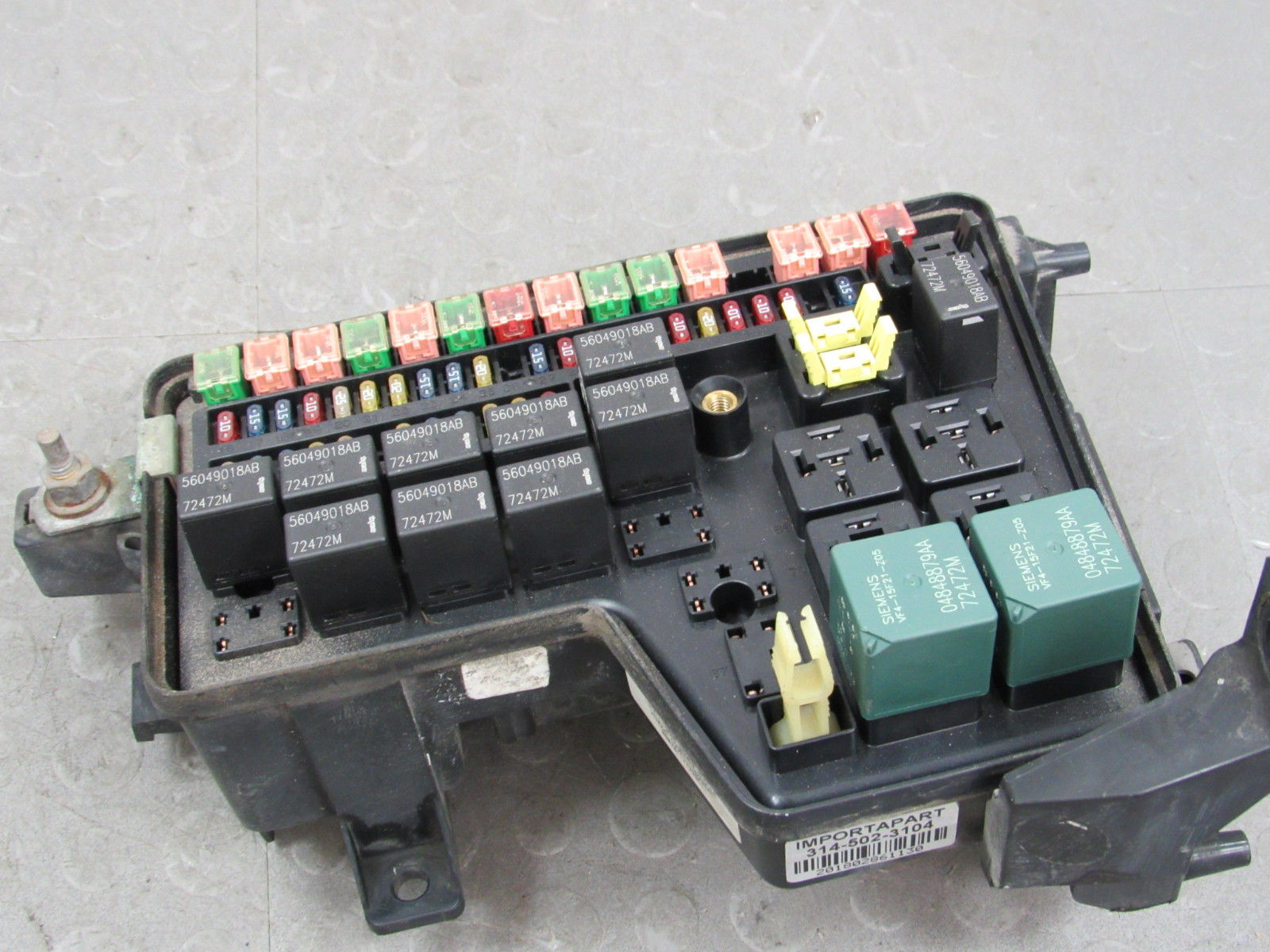 Dodge Ram Fuse Box Corrosion Wiring Diagram Bots 02 1500 Pictures 03 Integrated Power Distribution Module 1996